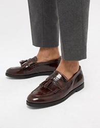House Of Hounds Archer Loafers In Burgundy Red