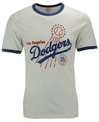 47 Brand '47 Men's Los Angeles Dodgers Archive Riger Bic T Shirt White Royalblue