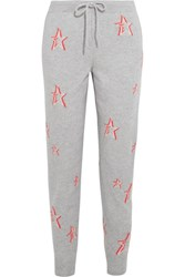 Chinti And Parker 3D Star Cashmere Track Pants Gray