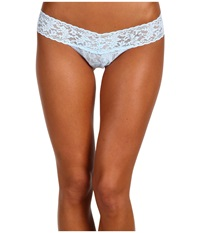 Hanky Panky I Do Low Rise Bridal Thong Powder Blue Women's Underwear