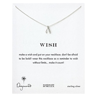 Dogeared Sterling Silver Wish Teeny Wishbone Reminder Reminder Necklace Silver