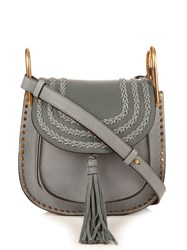 Chloe Hudson Small Leather Shoulder Bag Light Blue
