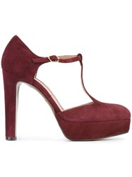 L'autre Chose T Bar Platform Pumps Pink And Purple