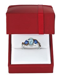 Levian Diamond Blue Aquamarine And 14K Gold Chocolatier Ring