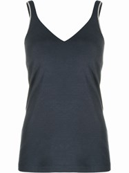 Brunello Cucinelli Brass Embellished Fitted Top 60
