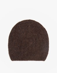 Just Female Zoe Beanie In Dark Brown