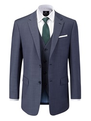Skopes Palmer Plain Notch Collar Classic Fit Suit Jacket Blue