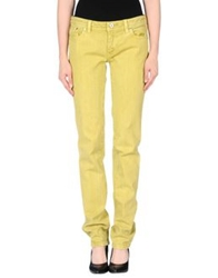 Pt0w Denim Pants Acid Green