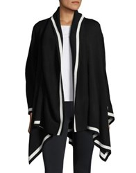 Lord And Taylor Shawl Collar Cape Black