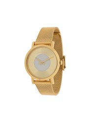 Larsson And Jennings Code Dot Milanese Watch Gold