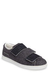 Acne Studios Men's Triple Strap Sneaker Dark Grey Blue Fabric
