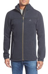 Men's Adidas 'Hochmoos' Full Zip Polar Fleece Hoodie Dark Grey