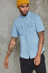 Forever 21 Slim Fit Cotton Denim Shirt