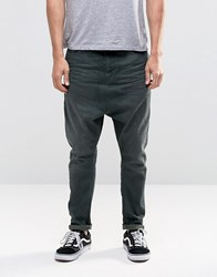 Asos Drop Crotch Jeans In Khaki Khaki Green