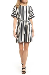 Felicity And Coco Sterling Stripe Dress Black Cream