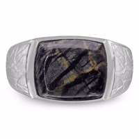 Lmj Grey Picture Jasper Stone Ring