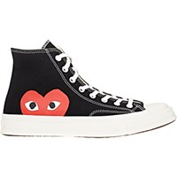 Comme Des Garcons Play Men's Men's Chuck Taylor 1970'S High Top Sneakers Black Blue Black Blue
