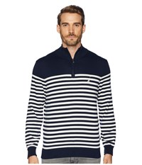 Nautica 12 Guage 1 2 Zip Bretton Sweater Navy