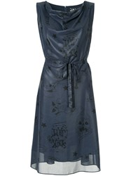 Hysteric Glamour Flared Dress Polyester Blue