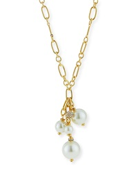 Pearly Y Drop Chain Necklace Sequin