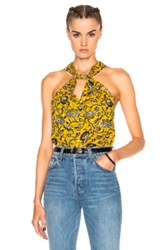 Etoile Isabel Marant Acan Rasta Flower Top In Yellow Floral Yellow Floral