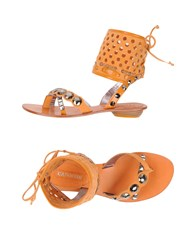 Cafe'noir Cafenoir Toe Strap Sandals Tan