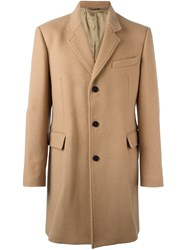 Dondup Flap Pockets Mid Coat Nude And Neutrals