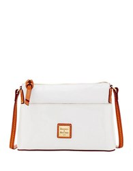 Dooney And Bourke Ginger Patent Leather Crossbody Bag White