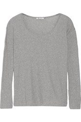 Alexander Wang T By Cotton Jersey Top Stone