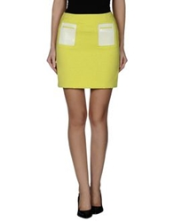 1 One Mini Skirts Acid Green