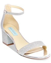 Blue By Betsey Johnson Miri Evening Sandals A Macy's Exclusive Style Women's Shoes Silver