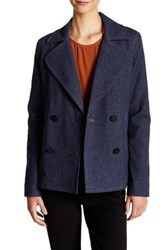 Atm Anthony Thomas Melillo Brushed Indigo Double Breasted Jacket Blue