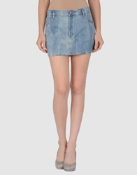 Cheap Monday Denim Skirts Blue