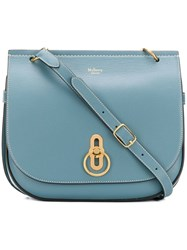 Mulberry Flap Fastened Crossbody Bag Blue
