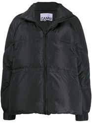 Ganni Quilted Puffer Jacket Black