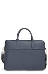 Men's Jack Spade 'Barrow' Leather Portfolio Briefcase Blue Navy