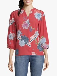 Betty And Co. Floral Print Blouse Red