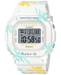 Baby G Digital White Floral Resin Strap Watch 40Mm