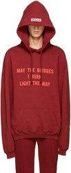 Vetements Burgundy 'May The Bridges' Hoodie