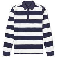 Armor Lux 76876 Stripe Rugby Shirt Blue