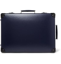 Globe Trotter 20 Leather Trimmed Suitcase Navy