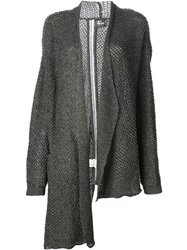 Lost And Found Open Front Cardigan Grey