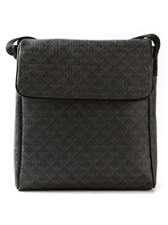 Emporio Armani Monogram Print Cross Body Bag Grey