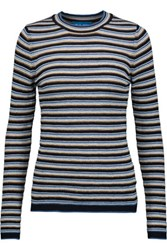 Mih Jeans M.I.H Moonstone Striped Merino Wool Sweater Multi