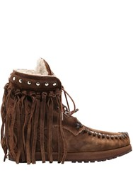 El Vaquero 70Mm May Fringed Suede Wedged Boots
