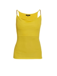 Morgan Sleeveless Top With Gemstone Straps Yellow