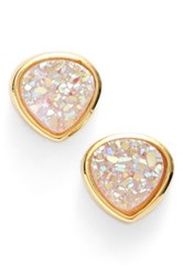 Sonya Renee Drusy Stud Earrings White