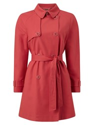 Eastex Belted Mac Red