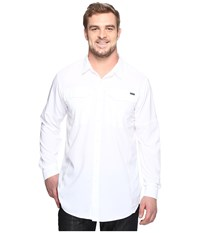 Columbia Silver Ridge Lite Long Sleeve Shirt Tall White Men's Long Sleeve Button Up
