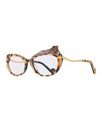 Anna Karin Karlsson Rose Et Le Reve Cat Eye Optical Frames Brown